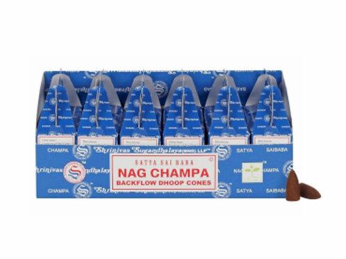 Satya Backflow Dhoop Cones Nag Champa