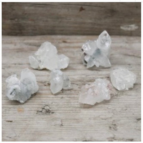 white Appophyllite Clusters 20-30mm