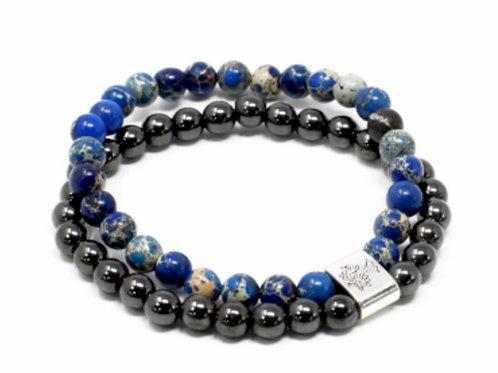 Magnetic Gemstone Bracelet- Sodalite