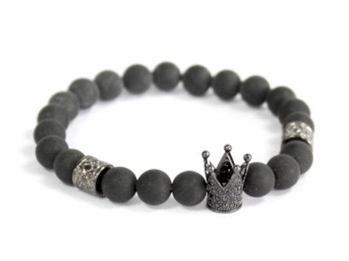 Crystal Crown/ Black Agate- Gemstone
