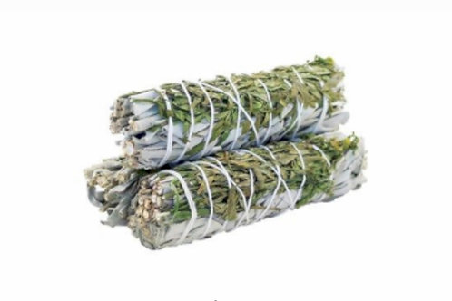 Smudge Stick- White Sage & Ruda 10cm