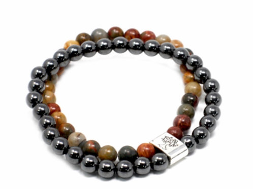 Magnetic Gemstone Bracelet- Picasso Jasper