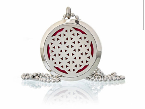Aromatherapy Diffuser Neckless- Flower of Life 30mm