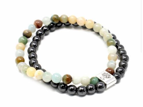 Magnetic Gemstone Bracelet- Amazonite