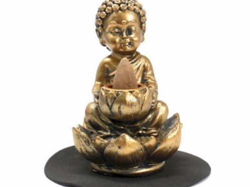 Buddha, Lotus Backflow incense burner