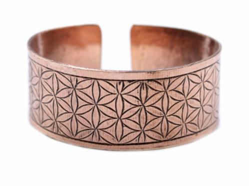 Copper Tibetan Bracelet-Flower of Life