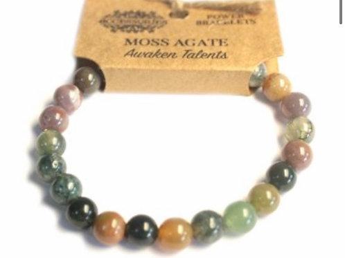 Power Bracelets- Moss Agate