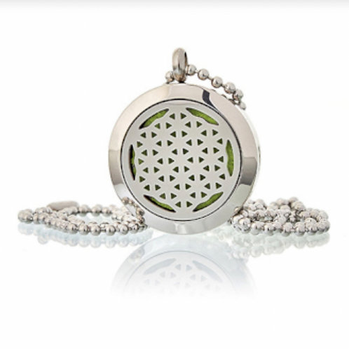 Aromatherapy Diffuser Necklace-Flower of Life