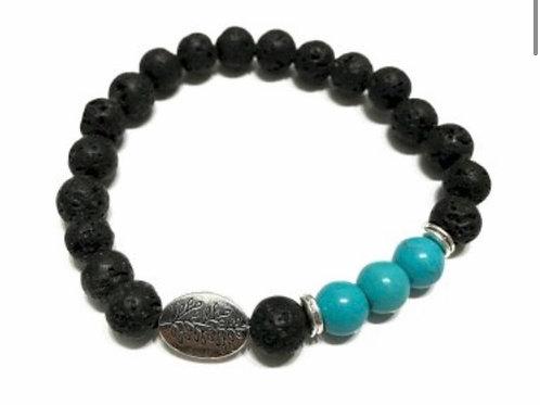 Lava Stone - Leaf Turquoise