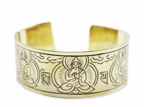 Brass Tibetan Bracelet-Five buddha