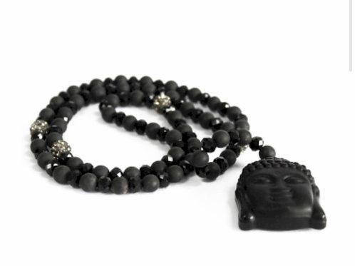 Buddha/Black Stone- GemstoneNeckless
