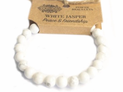 Power Bracelets - White Jasper