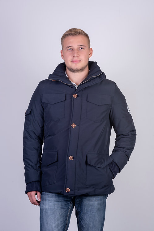 Men Navy Parka
