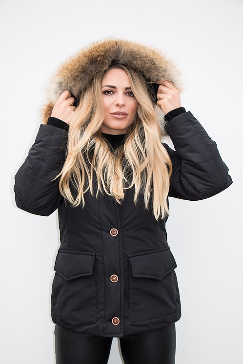Women Black Parka