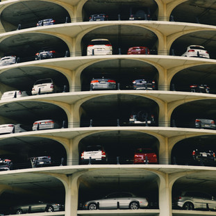 Stacked cars