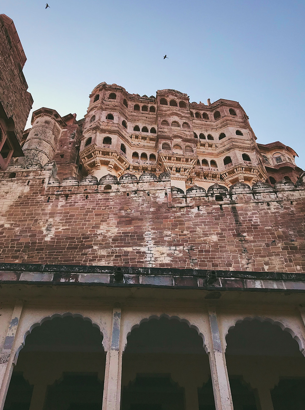 Mehrangarh Fort, an impressive fort in Jodhpur, Rajasthan, India