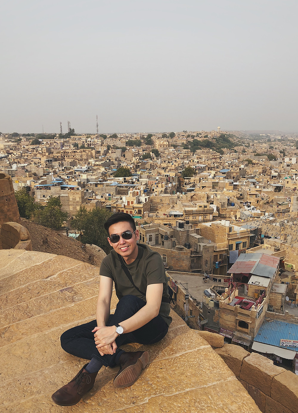 The Golden City of Jaisalmer as viewed from Jaisalmer Fort