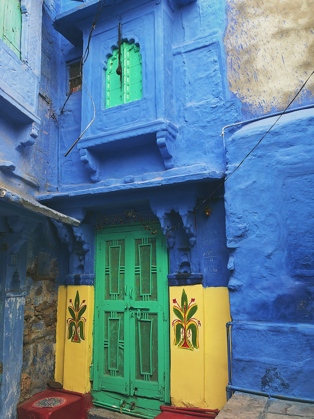 Blue house in Jodhpur, Rajasthan, India