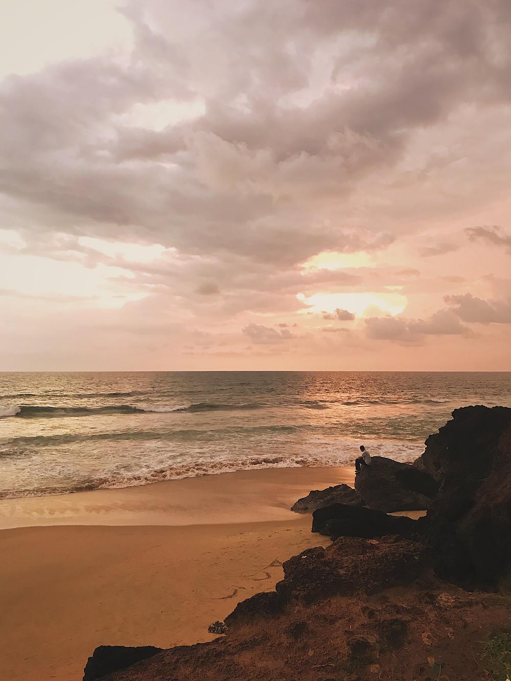 Sunset view at Varkala Beach, Kerala, India