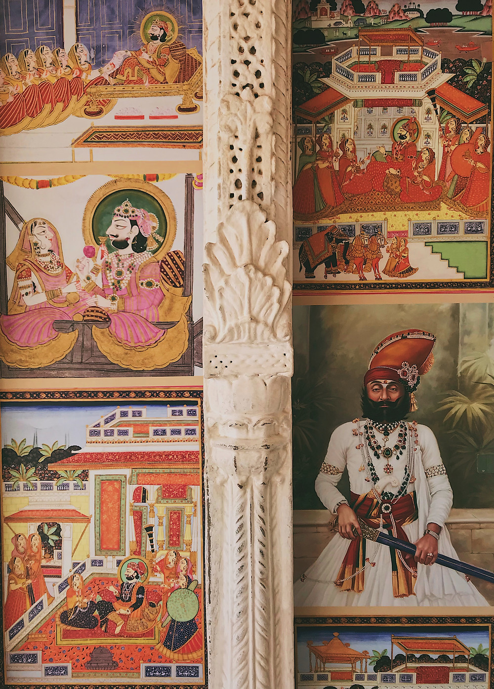Paintings of Mehrangarh Fort, Jodhpur, India
