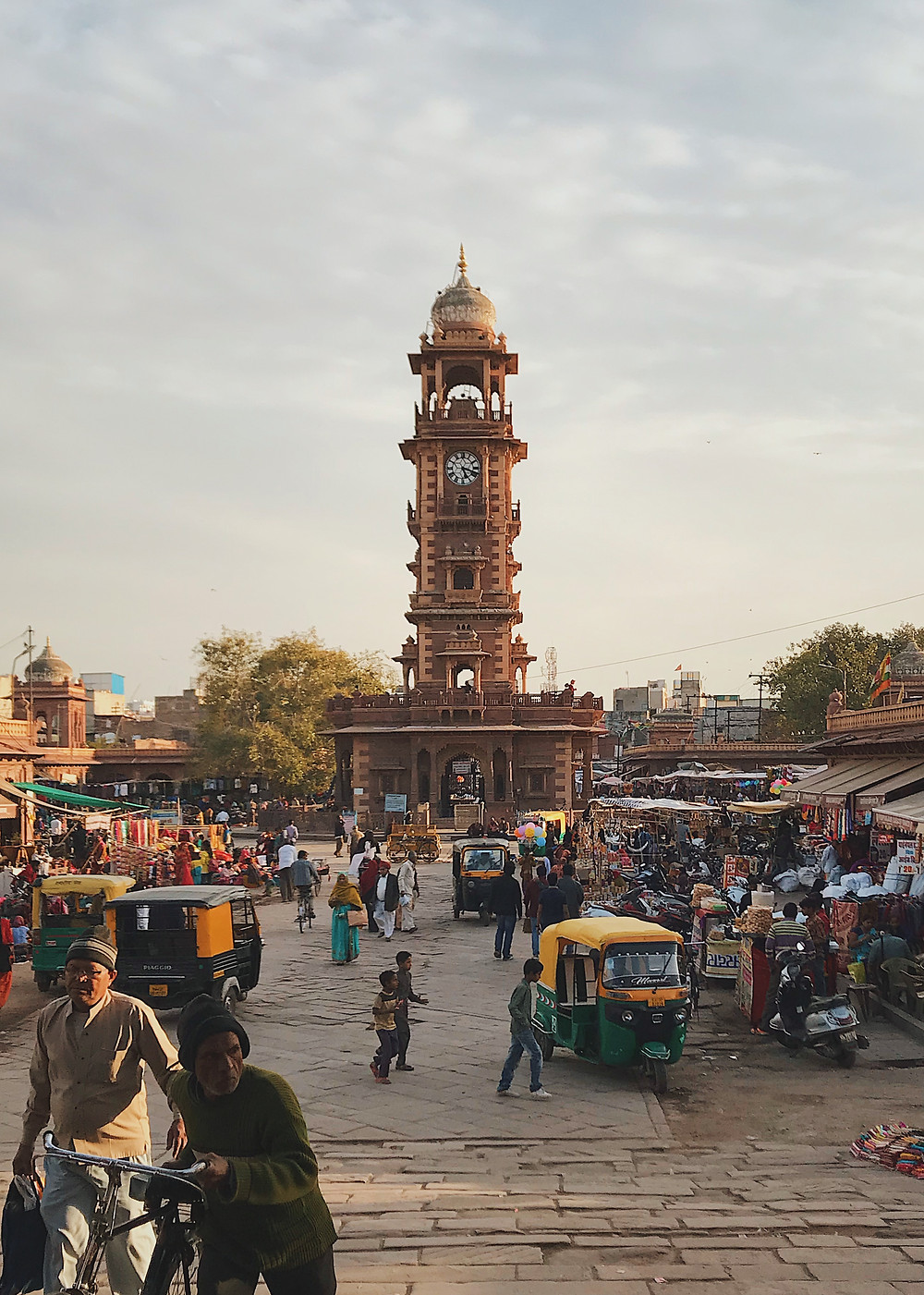 Clock Tower in the middle of Sardar Market, in Jodhpur, Rajasthan, India