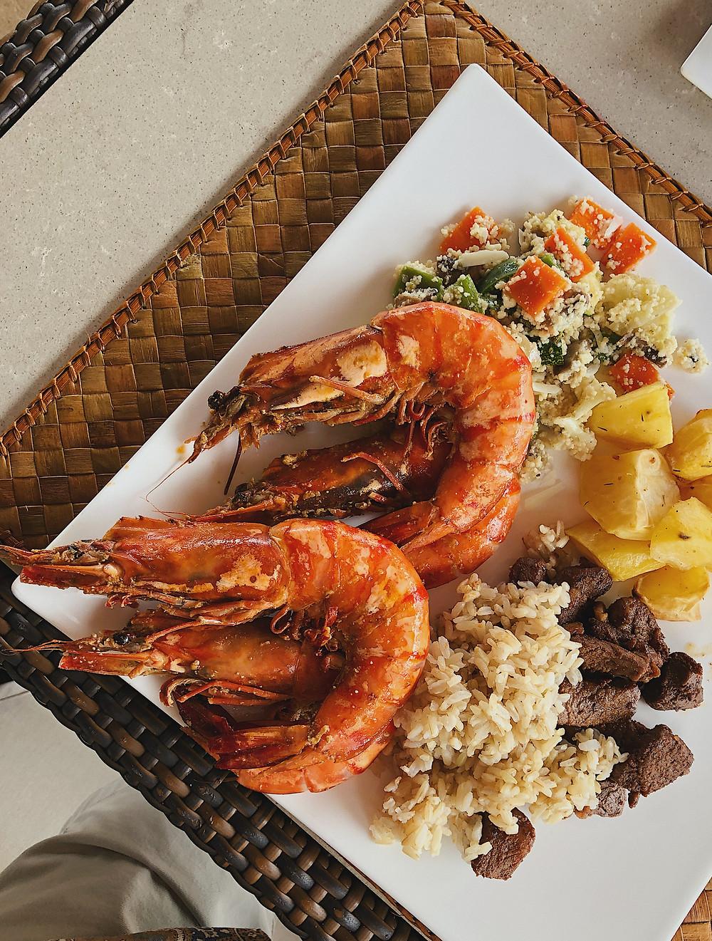 El Nido Pangulasian Island food