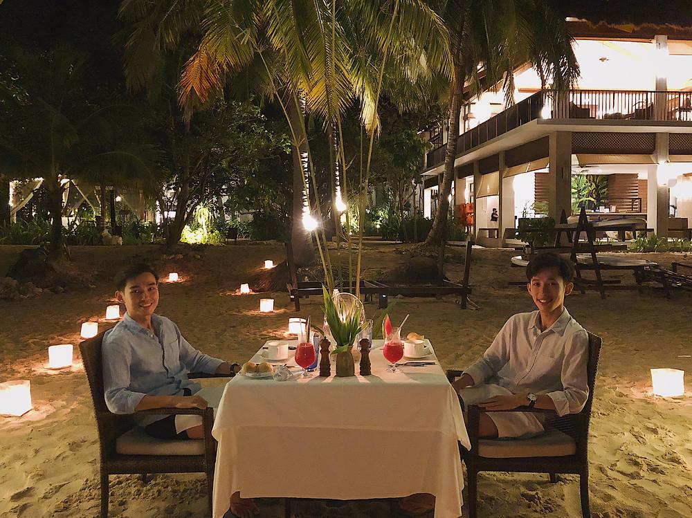 Dinner Pangulasian Island El Nido