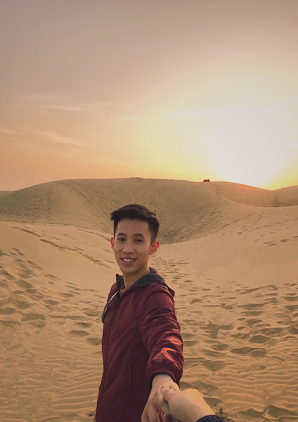 Sunset at Sam Sand Dunes, Jaisalmer, Rajasthan, India