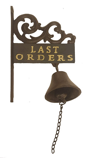 Last Orders Bell and Sign, Wall Mounted Bell