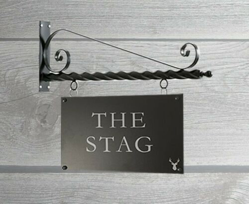 Printed bar sign & Hanging Bracket 450mm x 350mm (Double Sided) -  - Landscape