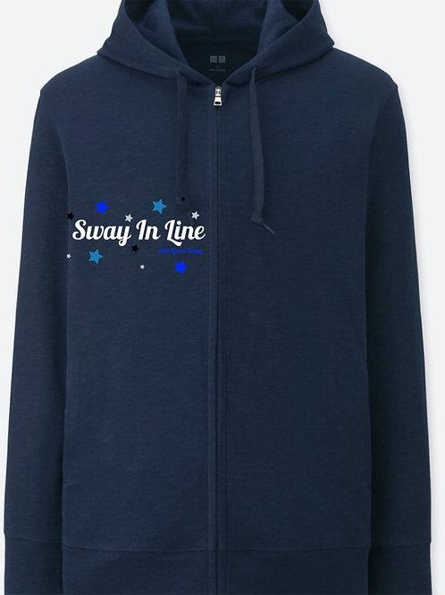Personalized Unisex Sway In Line zip up hoodie