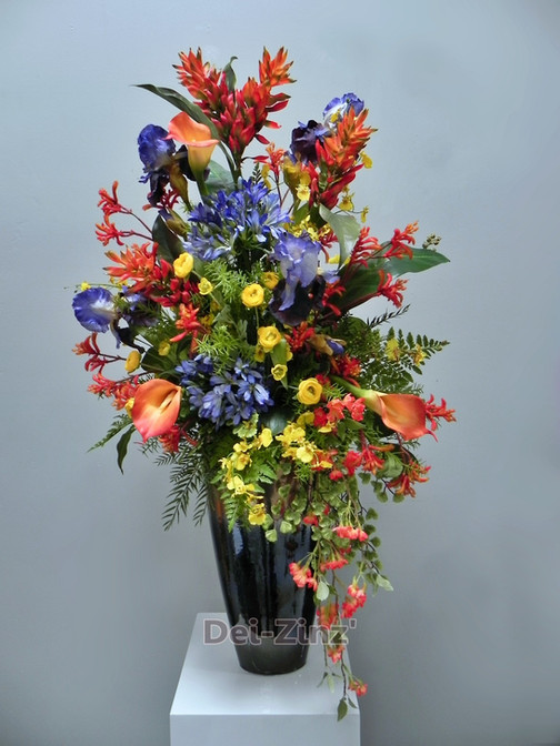 colorful mixed artificial arrangement