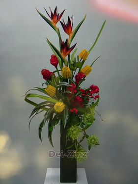 tall tropical delight arrangement