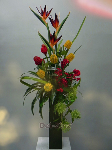 tall tropical delight arrangement