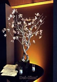 small artificial pink magnolia tree