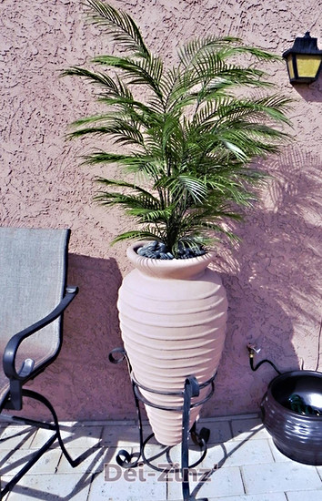 small outdoor artificial palm tree