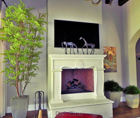 silk-tree-and-junipers-by-homes-fireplace