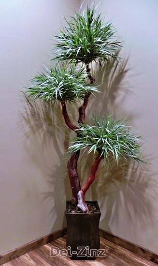 small artificial grass tree