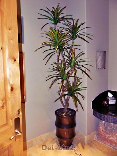 slim faux dracaena marginata tree