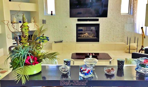 mixed-artificial-arrangement-brightens-homes-kitchen