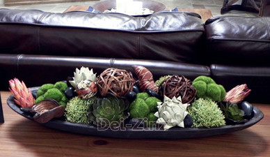 succulent and moss arrangement