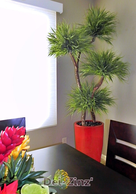 faux grass tree with 4 heads