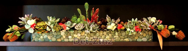 artificial succulent garden arrangement