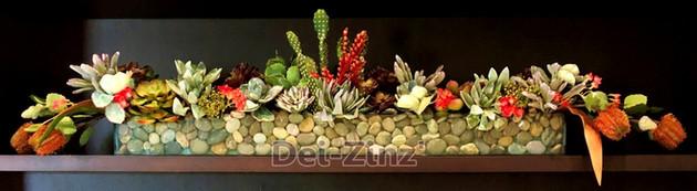 artificial succulent garden arrangement