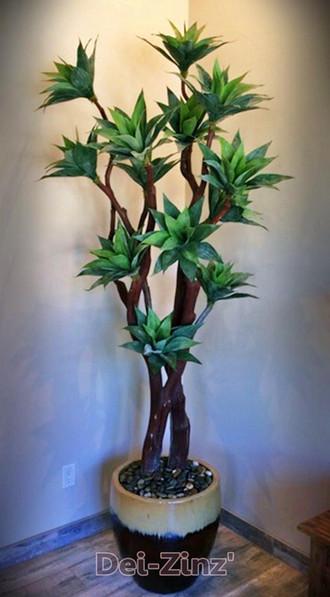 faux mini-agave tree