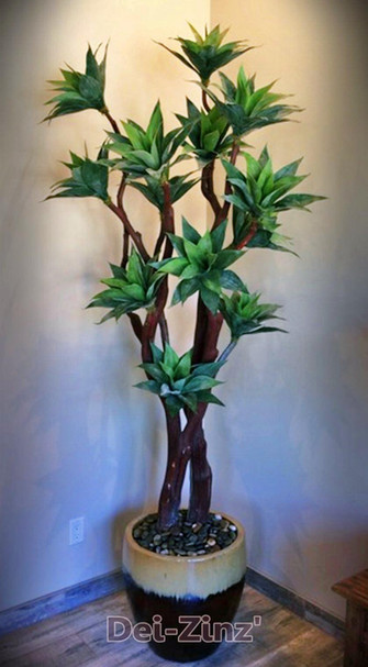 faux mini-agave tree