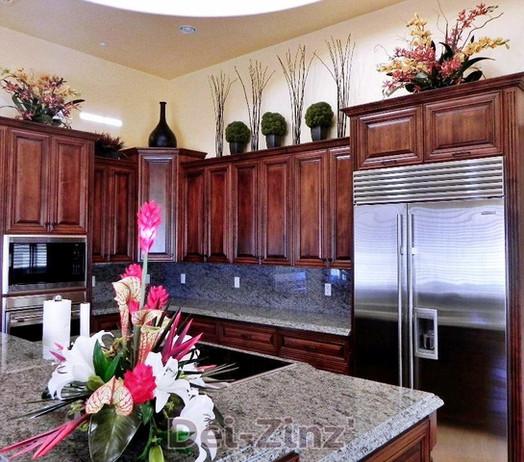 kitchen-decor-with-faux-plants