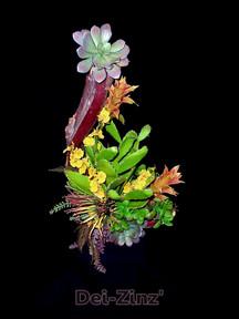 artificial succulent arrangement