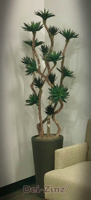 artificial black agave tree