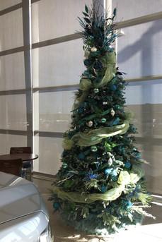 9-foot slim artificial Christmas tree